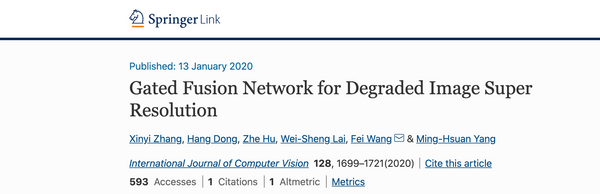 Gated Fusion Network for Degraded Image Super Resolution